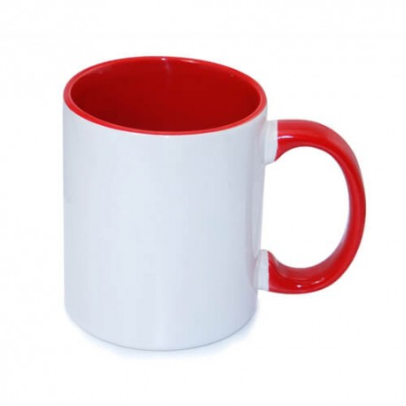 Tasse bedrucken Two Tones Rot