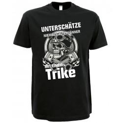 Trike T-Shirt unterschätze niemals einen alten Mann