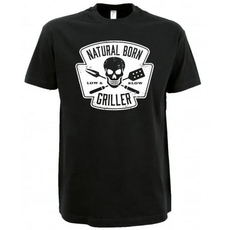 T-Shirt mit Grillmotiv /Natural Born Griller