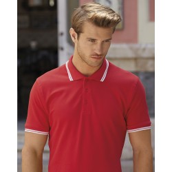 Tipped Polo Shirt bedrucken