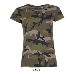T-Shirt bedrucken Camouflage Damen