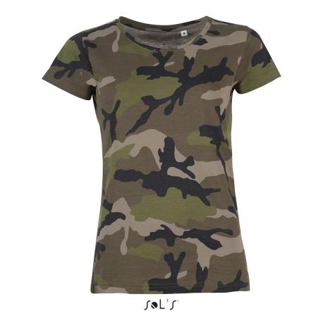 Camouflage Damen T-Shirts bedrucken