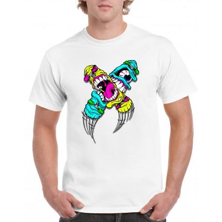 10 weisse sols T-Shirts einseitig, vollfarbiger Digitaldirektdruck / ab 10 Stück