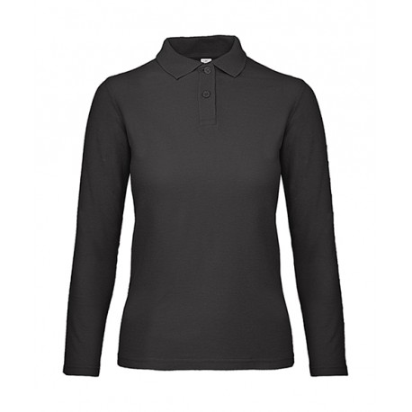 ID001 LSL Polo BC Women F Black